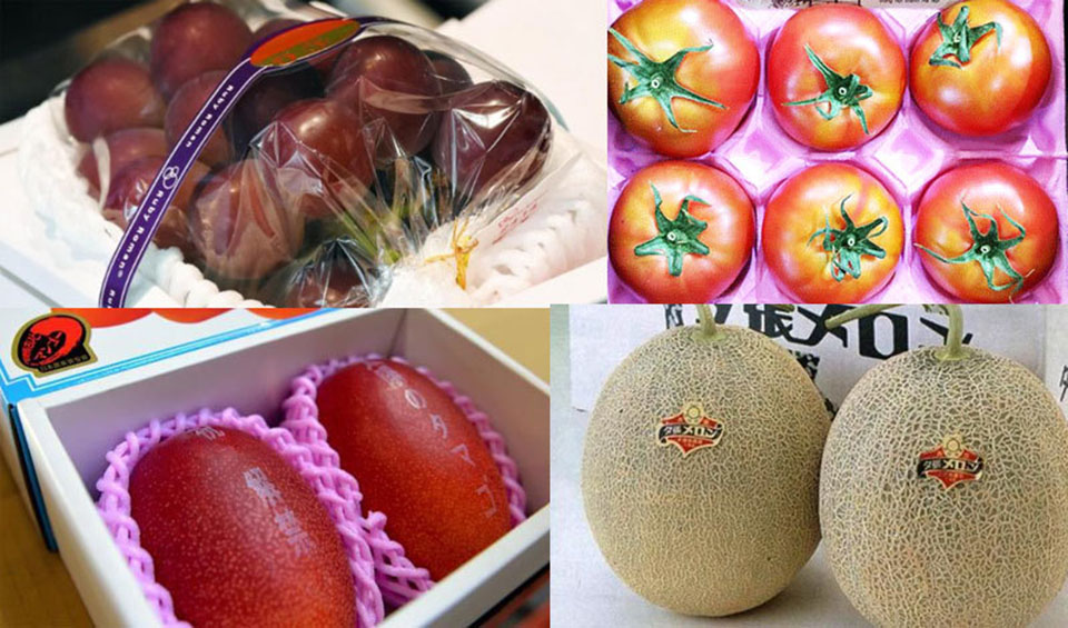 Some fruit items imported by air