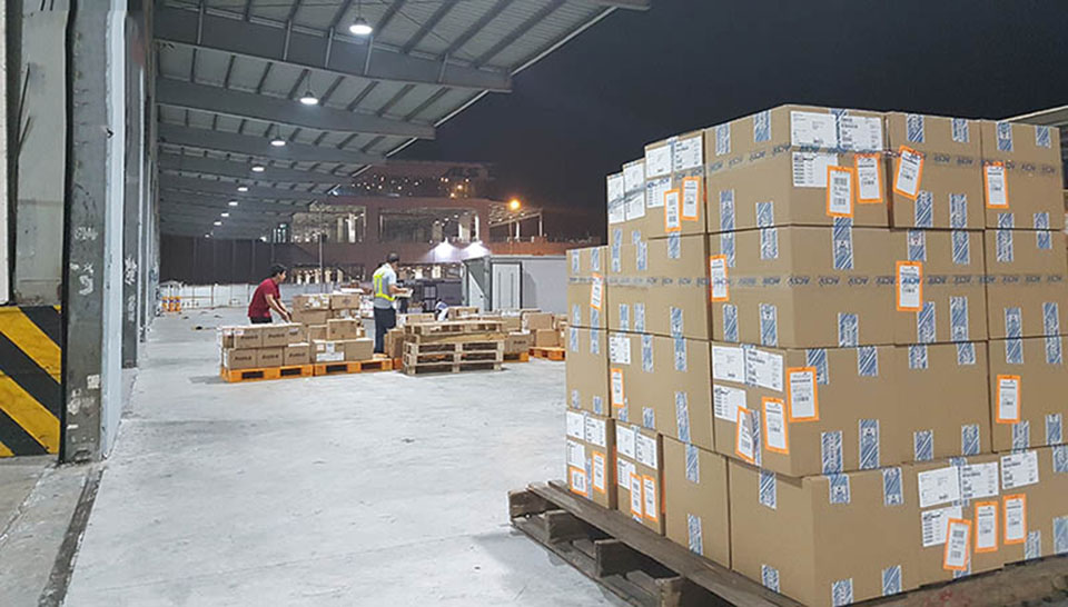 customs clearance of imported goods at tcs warehouse